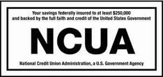 NCUA, National Credit Union Association, a U.S. Government Agency LOGO